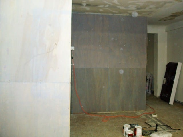 walls after stain before floors