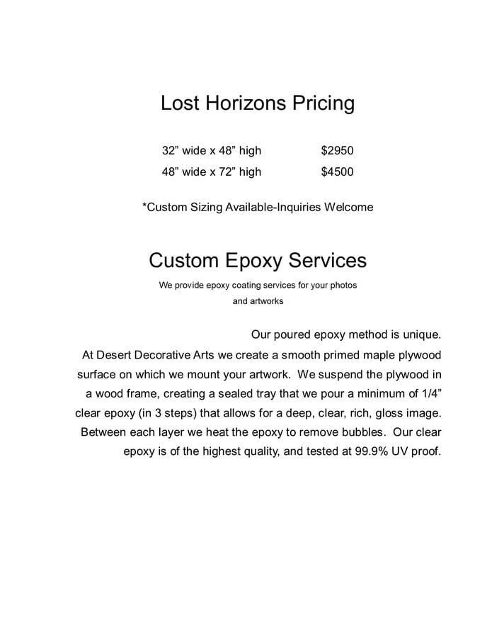 Lost Horizon Pricing